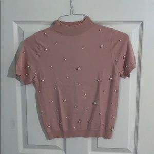 SHEIN Top with Pearls on Front